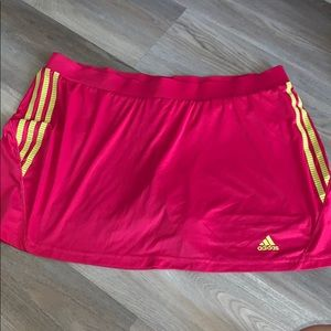 Adidas pink athletic skort XL